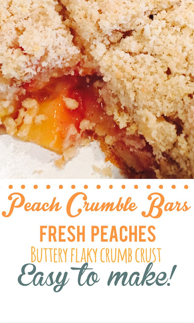Peach Crumble bars, baking, Sunday Dinner, Thestylesisters