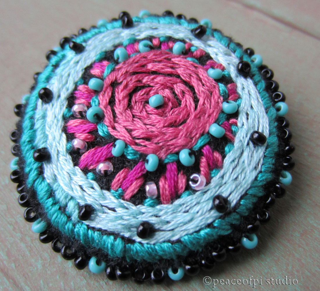 brooch embroidered how design make to bead hgtv a and celebrate embroidery heart handmade
