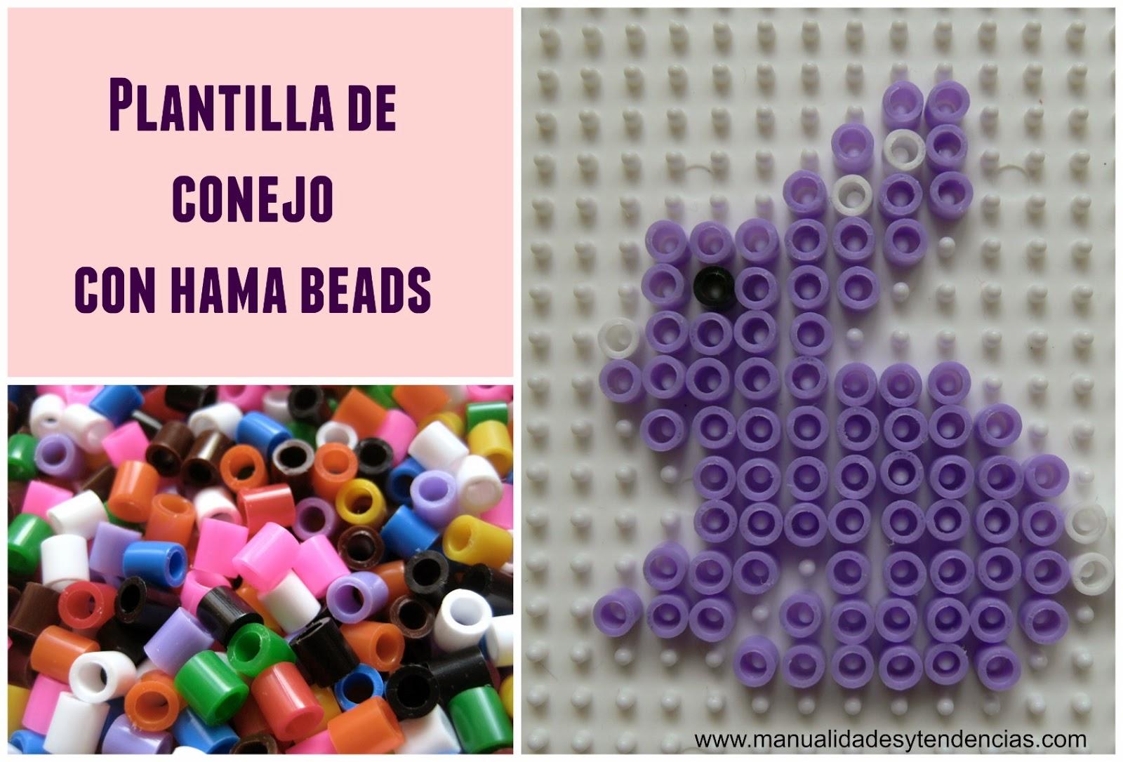 Plantilla conejo hama beads