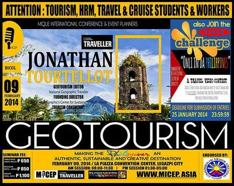 Jonathan Tourtellot's seminar on geotourism in Legazpi City