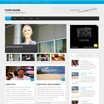 Flexor Magazine blogger template. download seo blogger template. magazine style template blogspot. download 4 column footer blogger template