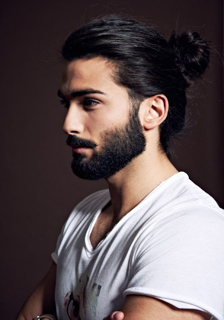 man bun avec barbe chignon homme