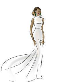 Laverne Cox Dress Illustration