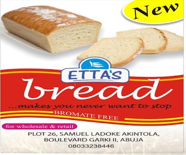 Get Etta's 'Bromate Free' Bread Abuja