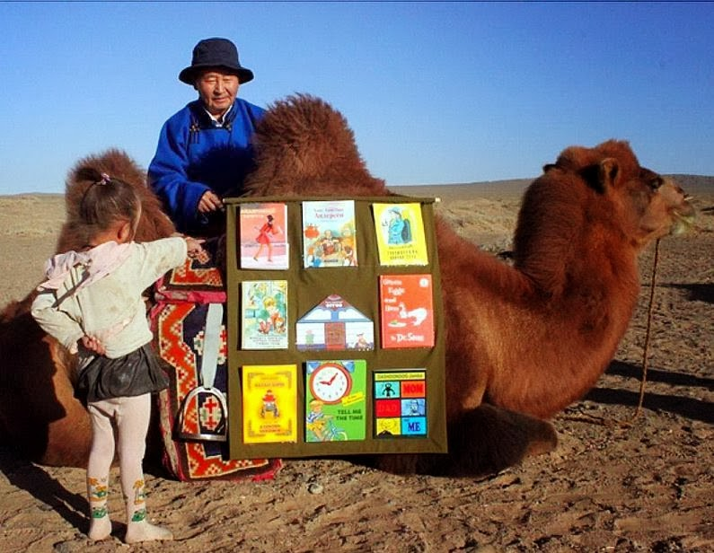 Bactrian Camel Bookmobile Library (Mongolia)