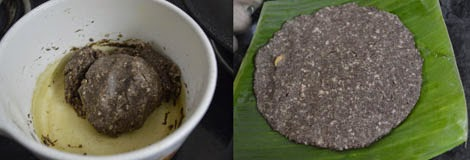 how to make ragi sweet adai