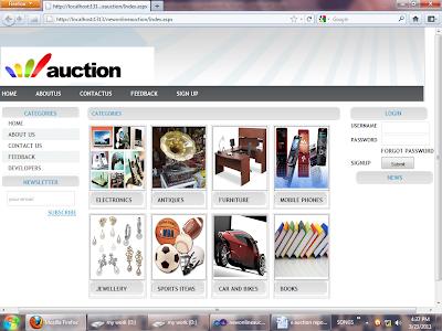 homepage-onlineauction-geekstrack-nishantsrivastava