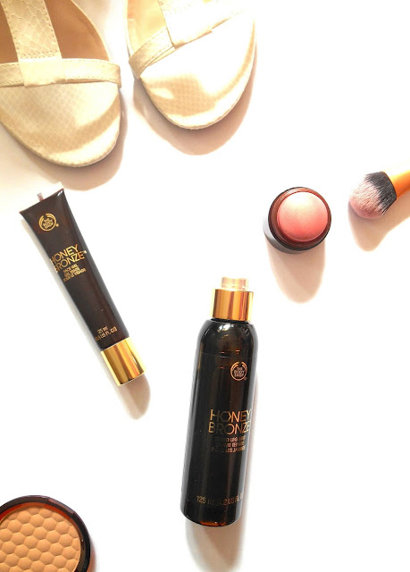 the body shop honey bronze tinted leg mist review