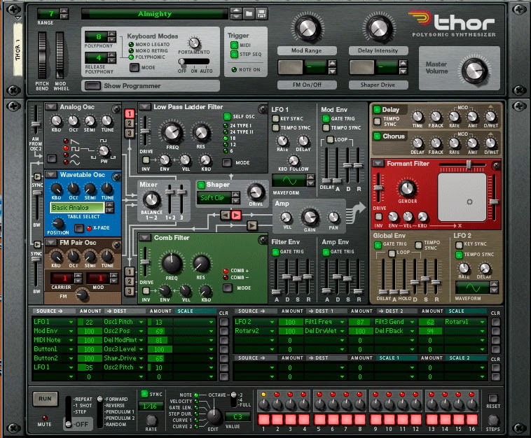 Propellerhead Reason 7 screen 3