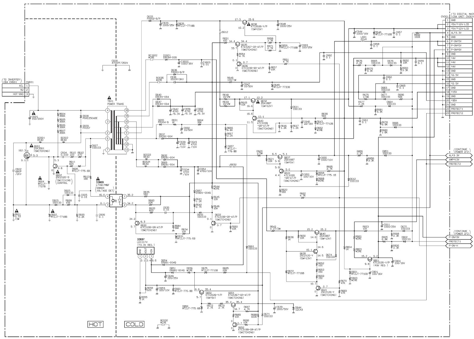 smps circuit board lcd tv diagram  smps  free engine image