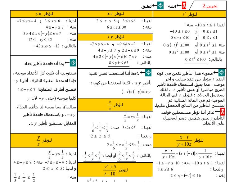 كتاب المفيد في الرياضيات للسنة الثالثة اعدادي pdf