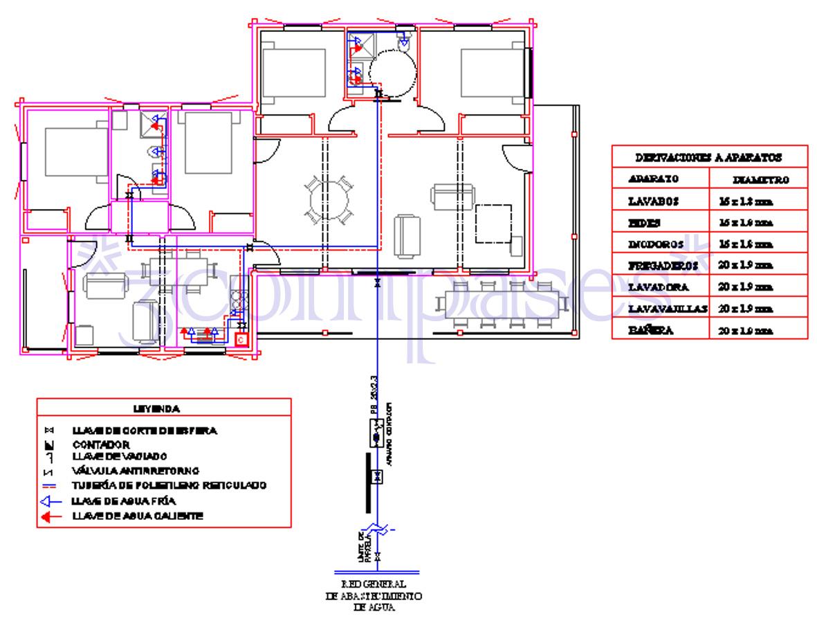 3compases proyecto de una casa de madera - Como hacer una instalacion de fontaneria ...