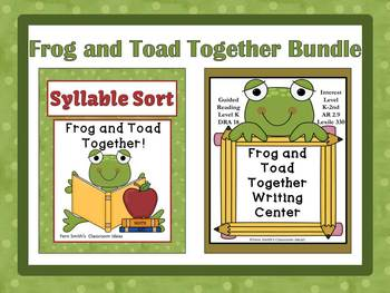 Fern Smith's Classroom Ideas TPT Product Frog and Toad Together Bundled Literacy Center for Common Core