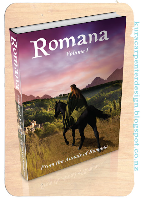 """Romana"" by author Victoria Nelson, cover artwork by Kura Carpenter"