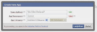 Cara Buat App ID Facebook di Blog