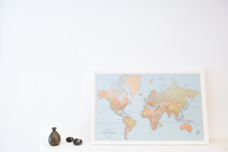 Baum kuchen inspirational investment the push pin world map inspirational investment map price 178 for white and maple frame available at baum kuchen shop gumiabroncs Images
