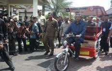SBY sopir becak