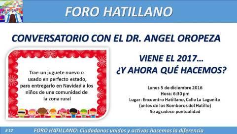 Foro Hatillano invita: