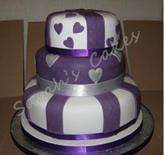 Sarahbella Cakes Purple Amp Silver Wedding Cake