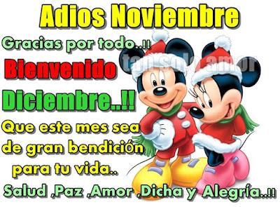 Adios Noviembre Bienvenido Diciembre