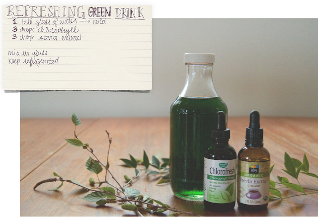 Refreshing Green chlorophyll Drink Recipe