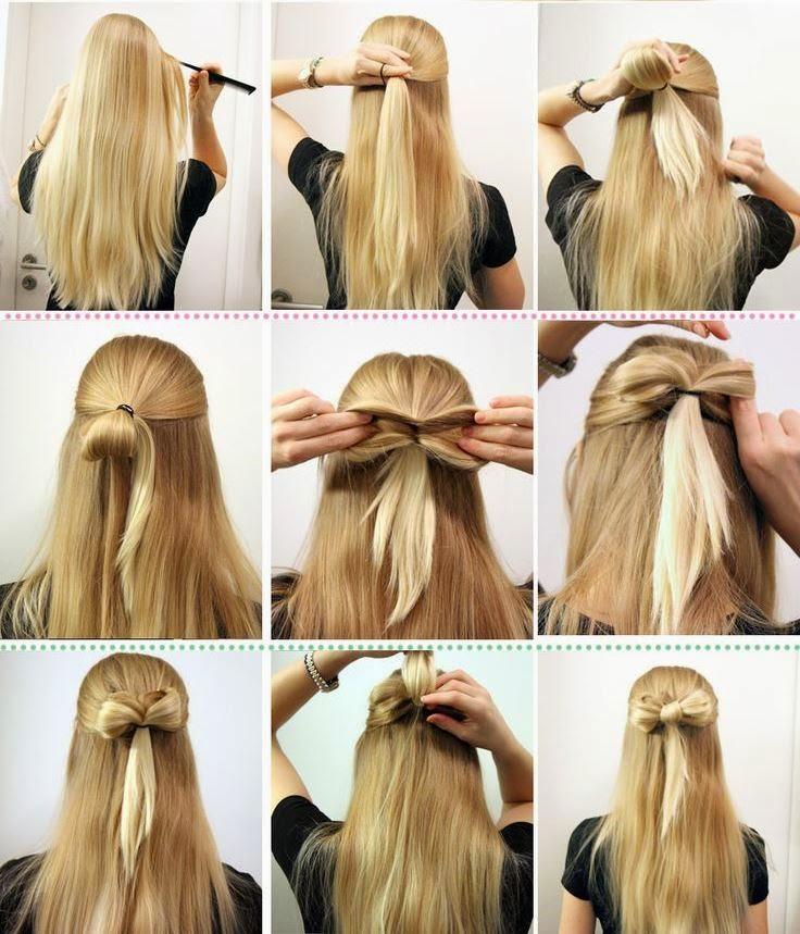 Cabelos tendencias - rabo de cavalo nós, cabelo penteados com nós