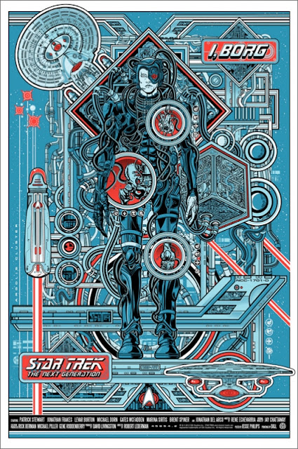 "Mondo - Star Trek: The Next Generation ""I, Borg"" Standard Edition Screen Print by Jesse Philips"