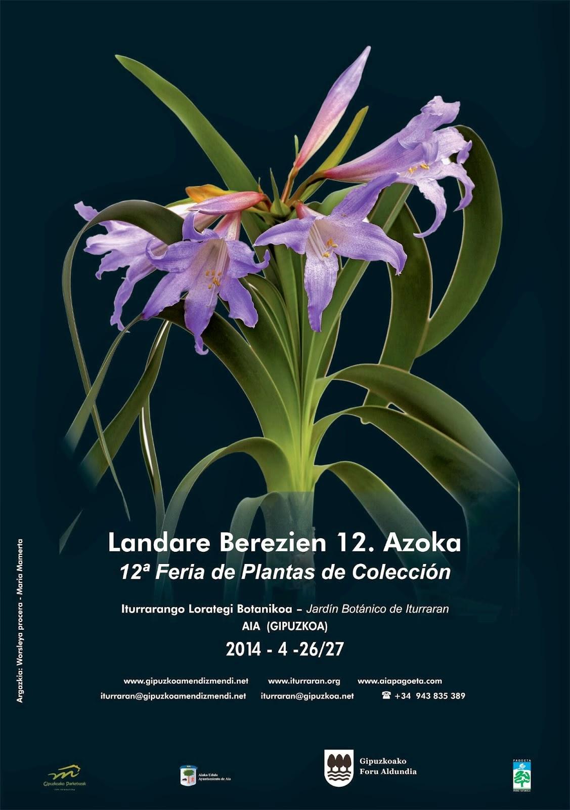 XII Feria de Plantas de Colección, Jardín Botánico Iturraran, 2014