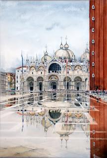 Venezia Septiembre Acuarela