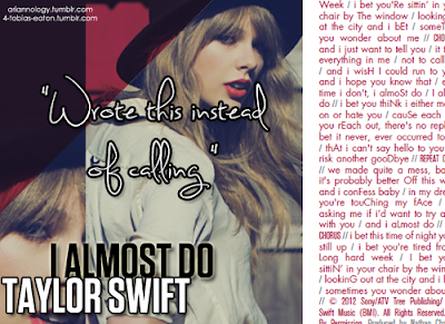 taylor swift i almost do cover