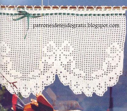 10 patrones de cortinas y cenefas crochet filet patrones para crochet - Cenefas de crochet ...