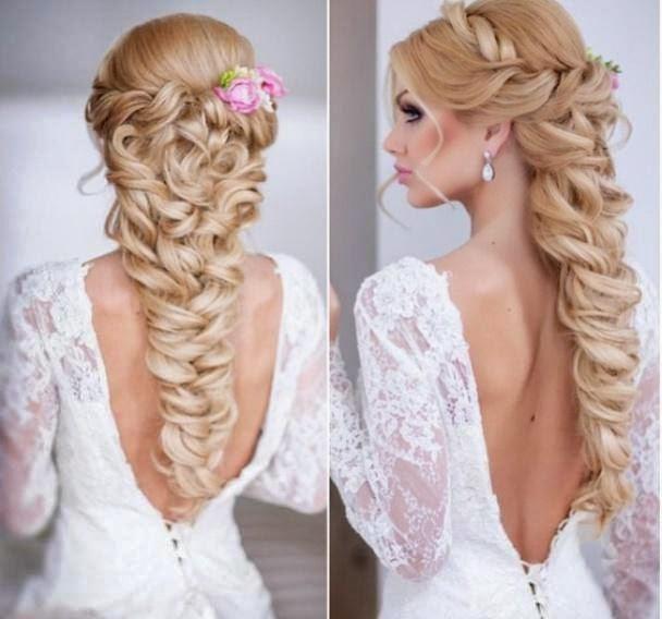 Свадебная прическа косичка