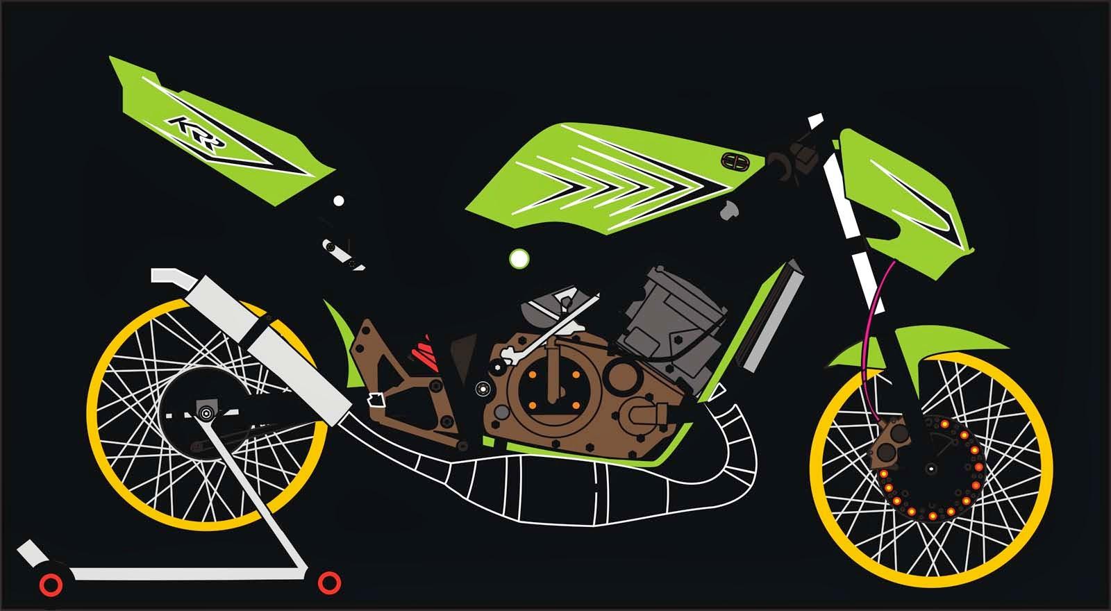 100 Gambar Motor Drag Lukisan Terlengkap Ranting Modifikasi