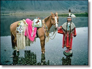 Picture of Indian with horse