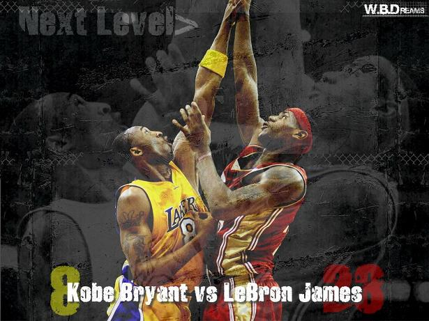 Kobe Bryant Vs Lebron James Wallpaper