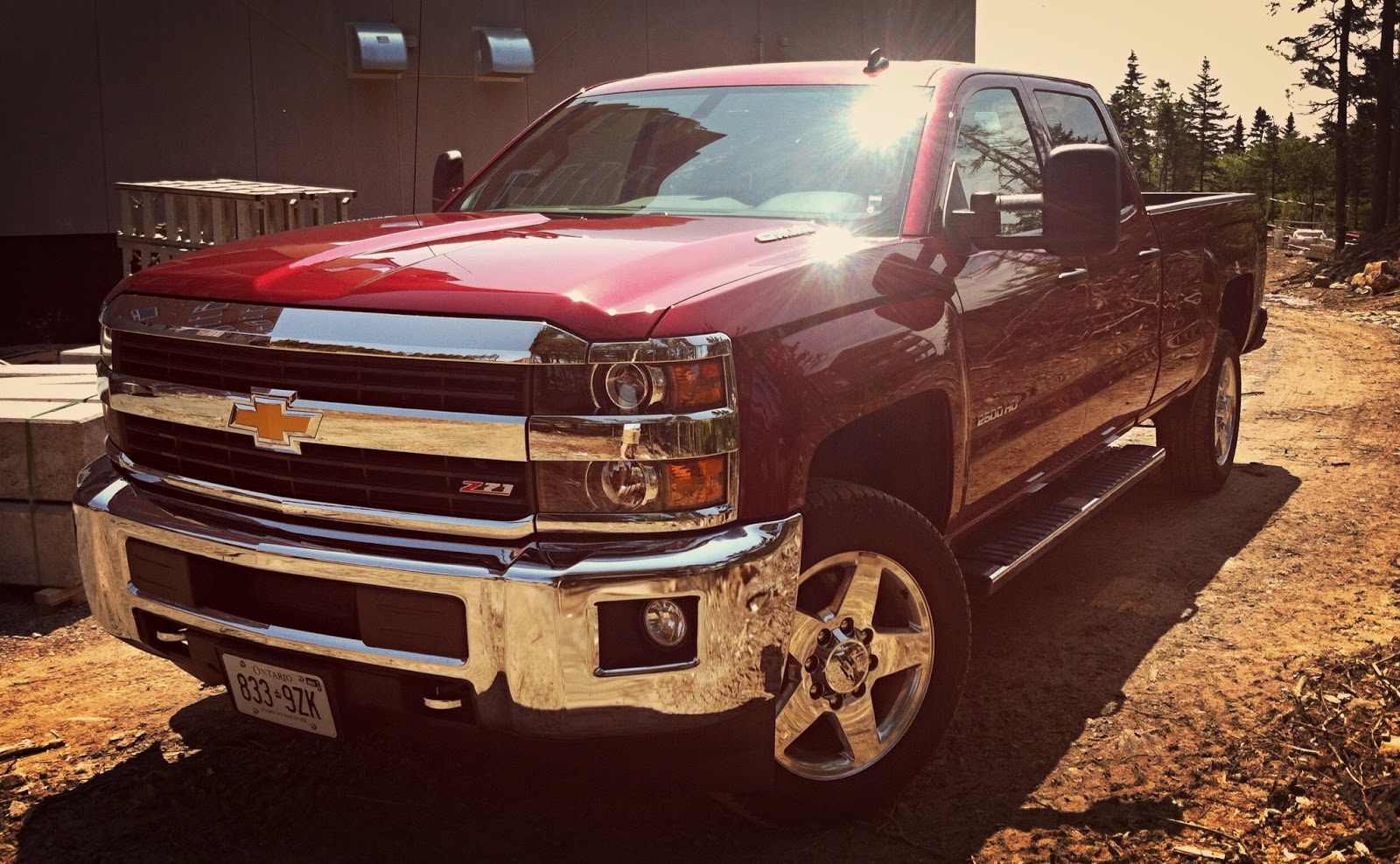 This Duramax-powered 2015 Chevrolet Silverado 2500 HD possesses an as