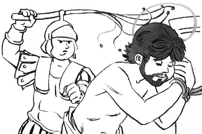 Esclavo azotado en la rueda - 5 6