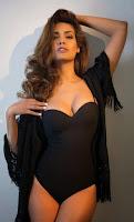 Esha Gupta in Black Bikini in FHM Magazine