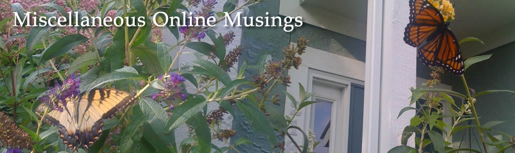 Miscellaneous Online Musings