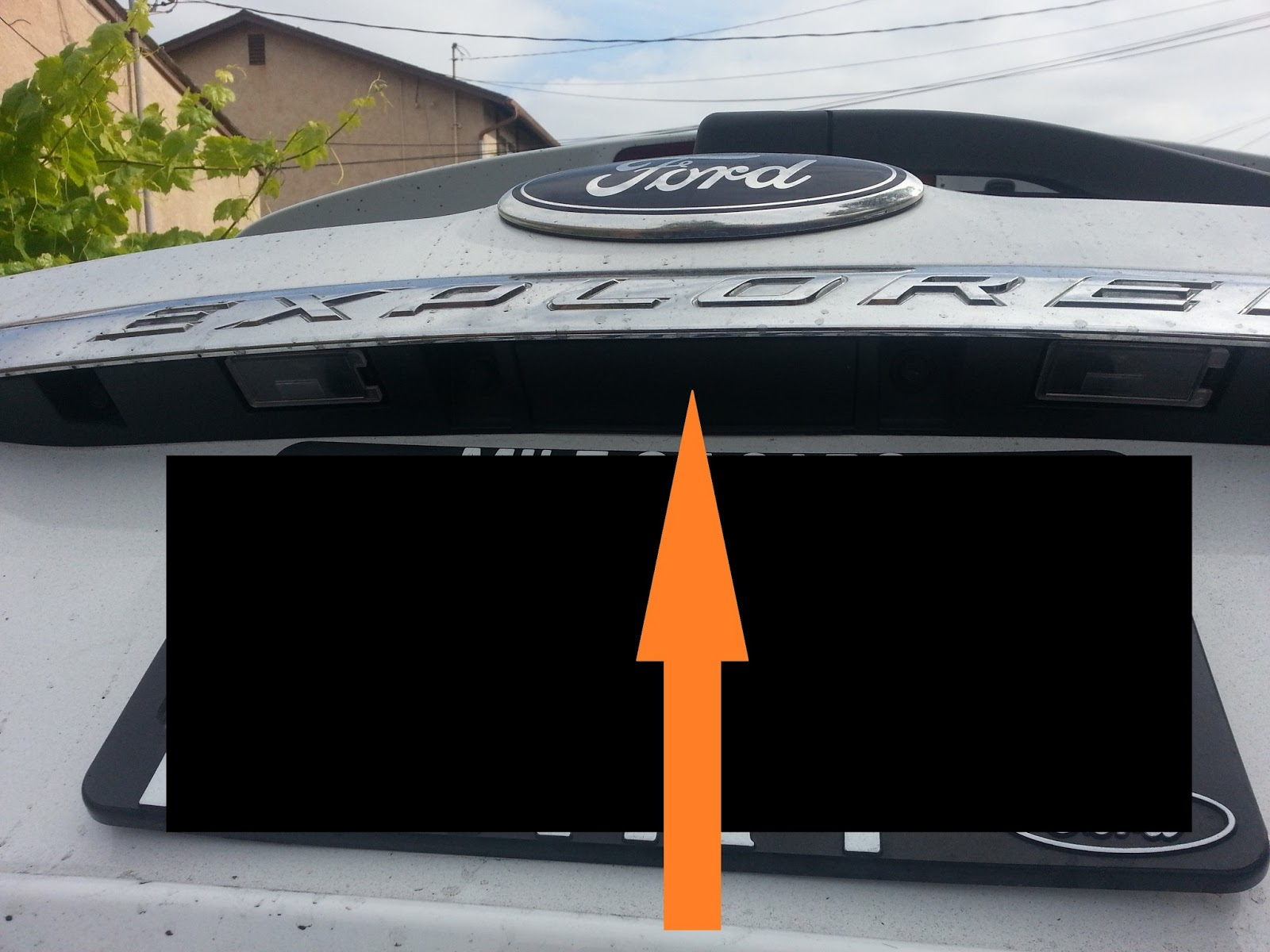 2013 Ford Explorer Diy Projects Base Backup Camera I Decided To Place The Where Original Oem Goes There Is A Plastic Cover Covering Hole Of