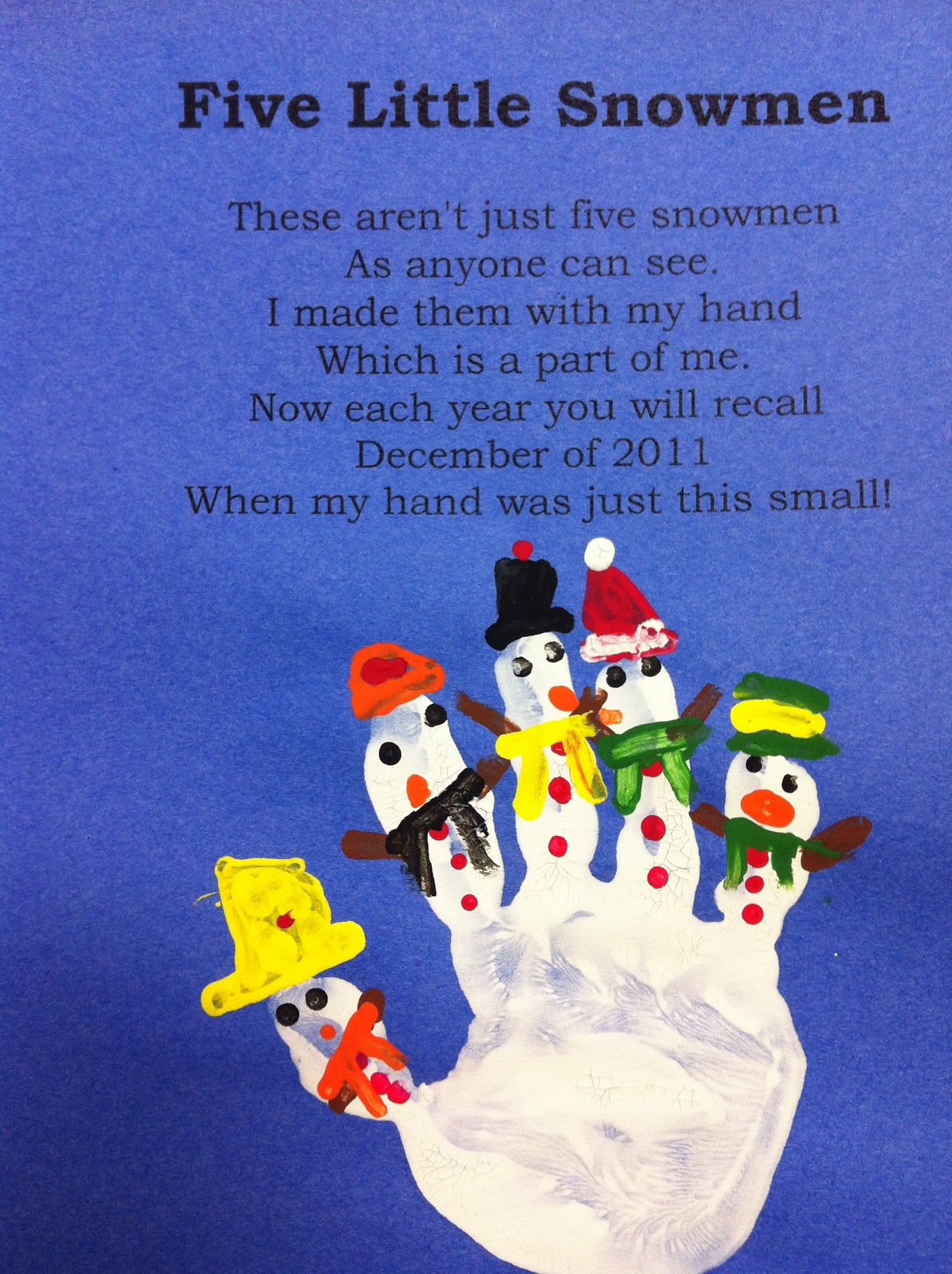 little snowman handprint poem 960 x 720 62 kb jpeg 5 little snowman
