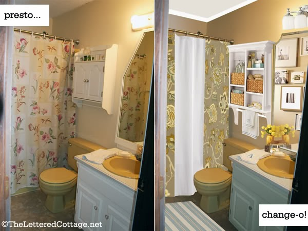 House Revivals Decorating With Colored Bathroom Fixtures - Gold colored bathroom fixtures