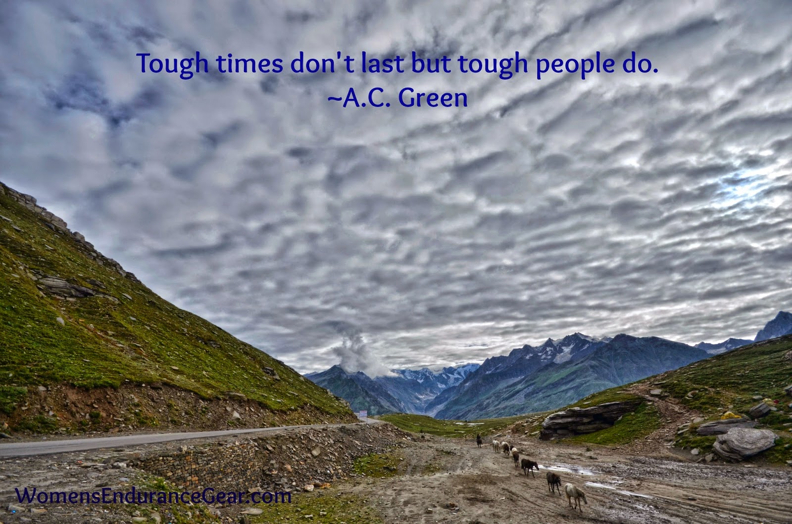 "midweek motivation - ""Tough times don't last but tough people do."" - A.C. Green"