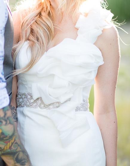 cinturon pedreria para novia