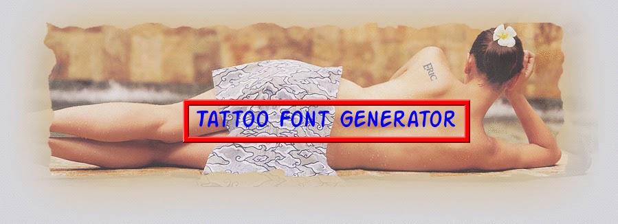 The Tattoo World Tattoo Font Generator