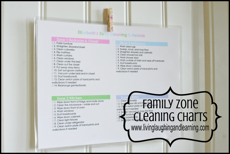 Flylady Zones Printable Just B Cause