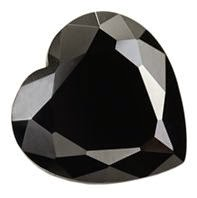 heart black synthetic gemstones