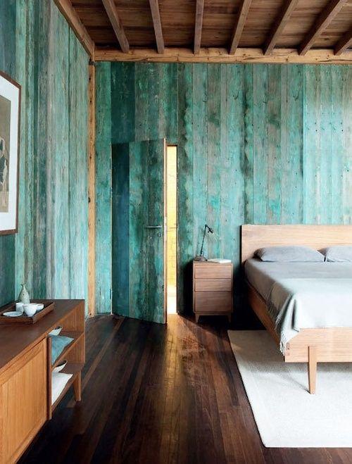 La fabrique d co turquoise bleu vert tropical ou bleu glacier pour une - Peinture aspect vieilli ...