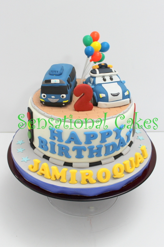 The Sensational Cakes ROBOCAR POLI 3D CAKE SINGAPORE CHILDREN