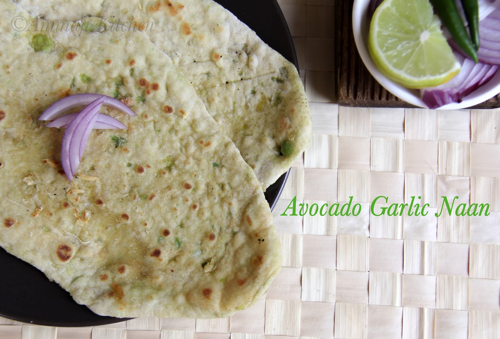 Avocado Garlic Naan